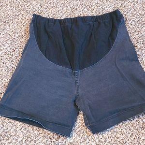 Maternity Shorts Stretchy Midi Length Size Large